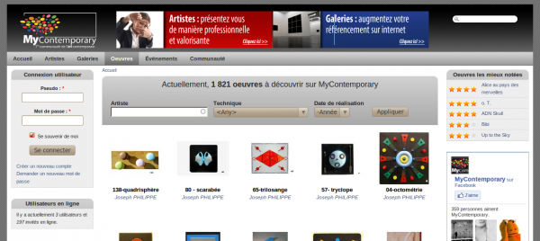webmee - MyContemporary - liste des oeuvres