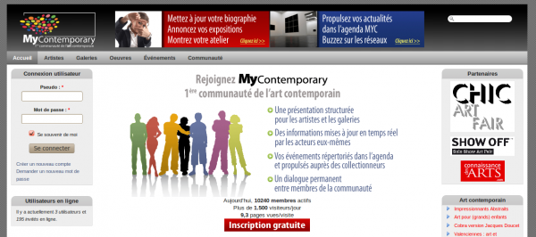 webmee - MyContemporary - page d'accueil